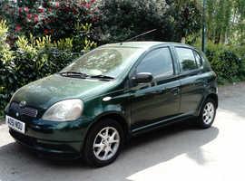 Toyota YARIS CDX, 2002 (51) green hatchback, Manual Petrol, 110000 miles