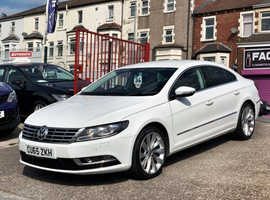 2015/65 Volkswagen CC 2.0 TDi [Blue-Motion Tech] GT finished in Pure White Gloss.  61,777 miles