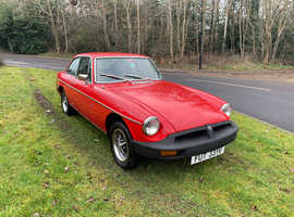 MGB GT finished in Flame red