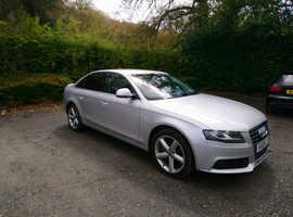 Audi A4, 2008 (08) silver saloon, Manual Diesel, 105,750 miles