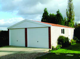 Lidget-Compton & Hanson concrete sectional garages at Millbank Sectional Buildings, Hellesdon Barns,