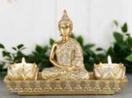 Gold Thai Buddha Double Tealight