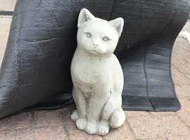Concrete garden cat ornament