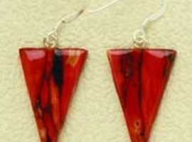 Celtic Drop Earrings with Sterling Silver fittings (se36)