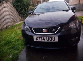 Seat Ibiza, 2014 (14) Black Hatchback, Manual Petrol, 53,800 miles