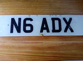 N6ADX private Number Plate