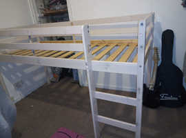 White middle sleeper/ high bed