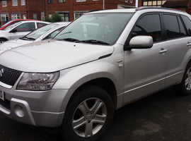 Suzuki Grand Vitara, 2008 (08) Silver Estate, Manual Diesel, low miles