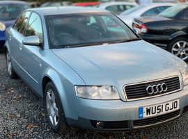 Audi A4, 2001 (51) Blue Saloon, Cvt Petrol, 116,000 miles