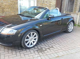 Audi TT, 2002 (52) Black Convertible, Manual Petrol, 72,000 miles