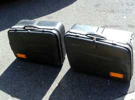 RARE -  Quality Original Krauser Black panniers for Yamaha FJ1100/FJ1200 motorcycle. 1984 onwards.
