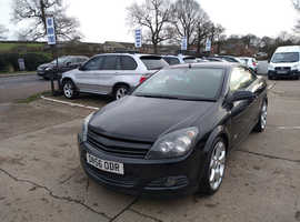 Vauxhall Astra, 2007 (56) Black Convertible, Manual Petrol, 108,000 miles
