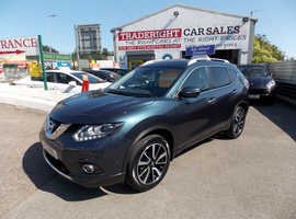 2016/16 Nissan X-Trail 1.6 DCi Tekna finished in Diamond Ice Blue Metallic., 65,470 miles