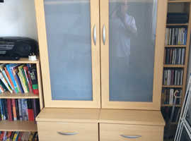 Bookcase and draws