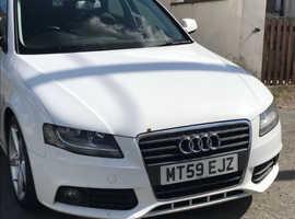 Audi A4, 2009 (59) White Saloon, Manual Diesel, 191,868 miles