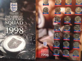 England 1998 Sainsbury's world cup medals