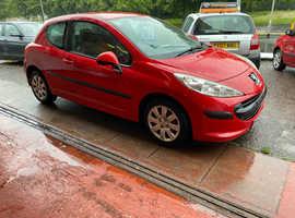 Peugeot 207, 2007 (07) Red Hatchback, Manual Petrol, 139,000 miles