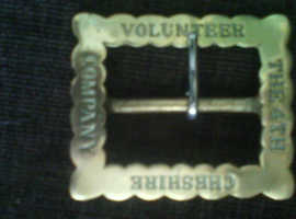 Victorian 4th Cheshire Volunteer company belt buckle