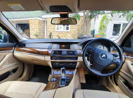 BMW 520d SE, 2013, FSH, metallic blue, cream leather, automatic, 71K miles