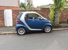 Smart Fortwo Coupe, 2009 (59) blue coupe, Automatic Petrol, 46,737 miles