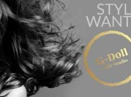 We are looking for Hairstylists to join the G-Doll team