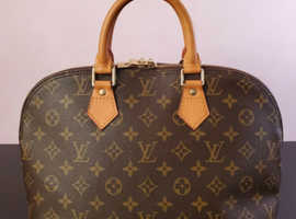 Louis Vuitton Alma PM Monogram Canvas Hand Bag auth