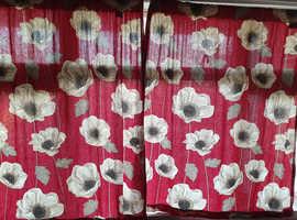 Curtains floral design