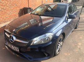Mercedes A-CLASS, 2016 (66) Blue Hatchback, Automatic Diesel, 17,000 miles