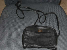 Small black evening bag (leather?)