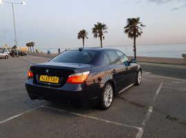 BMW 5 Series, 2007 (57) Blue Saloon, Automatic Diesel, 140,000 miles