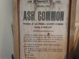 Vintage sign (Ash priors)Somerset