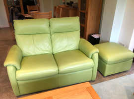 leather sofa and electric reclining armchairs