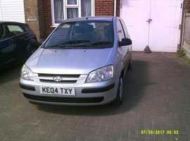 Hyundai Getz, 2004 (04) Silver Hatchback, Manual Petrol, 83,000 miles