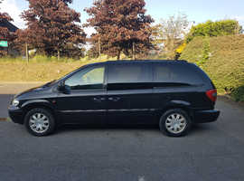 Chrysler Voyager, 2005 (05) Black Estate, Automatic Petrol,lpg converted 97,500 miles