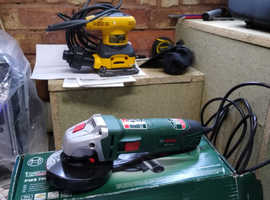 Electric sander and angle grinder