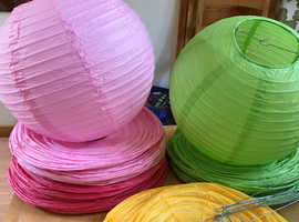 Chinese paper lanterns £1 for 2 lanterns 50pence each