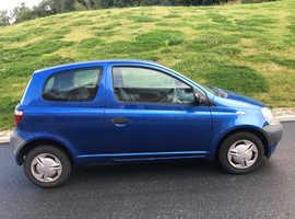 Toyota Yaris, 2001 (51) Blue Hatchback, Manual Petrol, 1 miles