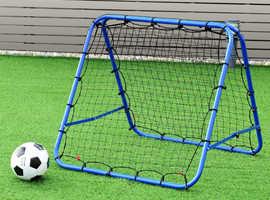 COSTWAY Double-sided Football Rebounder Net Training Adjustable Kickback Soccer (SP36258)