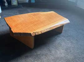 Handmade low cherry coffee table