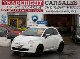 Fiat 500, 2013 (13) White Hatchback, Manual Petrol, 41,799 miles