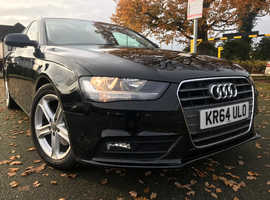 Audi A4, 2015 (64) Black Estate, Manual Diesel, 48,000 miles