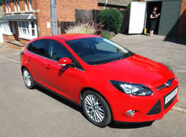 Ford Focus, 2013 (13) Red Hatchback, Manual Diesel, 59,614 miles