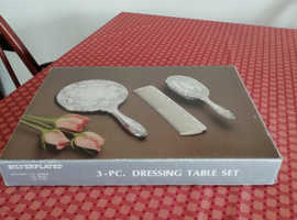 Silver Plated Dressing Table Set