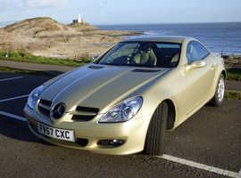 Mercedes SLK 200. 2007 (57) Gold Convertible, Automatic Petrol, 40,000 miles