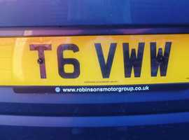 Perfect VW T6 Transporter number plate
