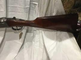 Kestrel side by side ejector double trigger 12 gauge shotgun