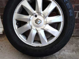 Alloy wheel and jack for Renault scenic 2008