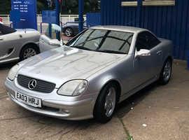 Mercedes Slk, 2003 (03) Silver Convertible, Automatic Petrol, 125,807 miles