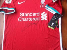 100% Genuine Champions Liverpool shirt 2019/2020 signed by Ozan Kabak
