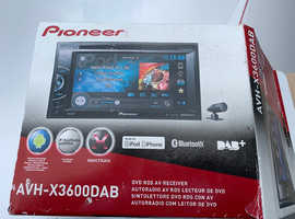 Pioneer AVH-X3600DAB Double Din Bluetooth DVD AUX USB 6.1 Inch Touchscreen